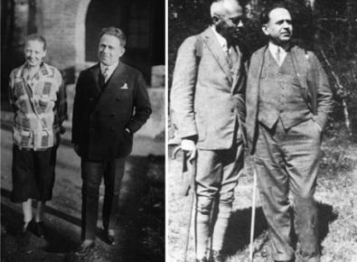 Na esquerda, Kurt e Mary Gerold, 1924, Paris. Na direita, Kurt e seu melhor amigo, Erich Danehl, 1927.