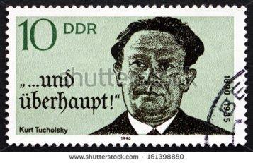 Selo postal do correio alemão RDA, em 1990.