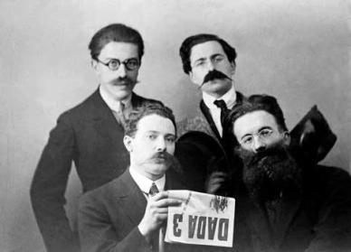 Man Ray Louis Aragon, Lissoum, Paul Eluard and Tristan Tzara, Zurich 1918.