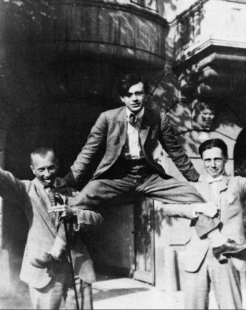 Hans Arp, Tristian Tzara, and Hans Richter. Zurich. 1917-18.