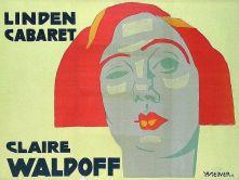 Poster de Claire Waldoff, feito por Jo Steiner, 1902.