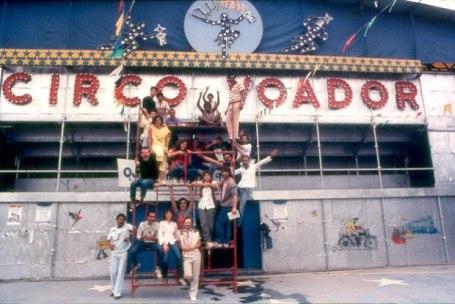 A turma do Circo no começo dos anos 80.