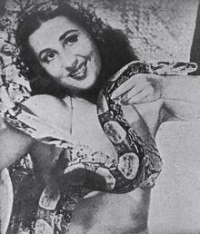 A atriz em cena do filme No Trampolim da Vida (1946).