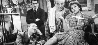 """Dercy Gonçalves no filme """"Cala a boca, Etelvina"""", de 1959."""