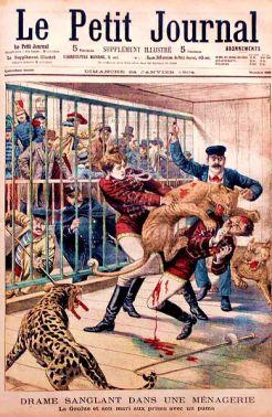 La Goulue e seu marido atacado por feras - 24/01/1904