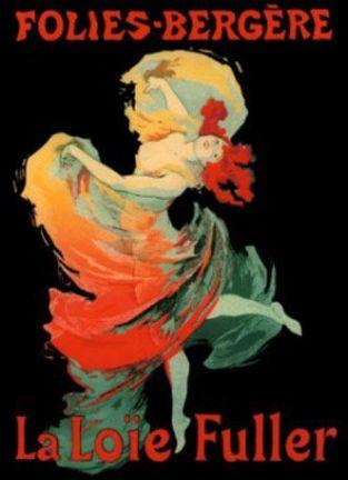 Cartaz de Jules Cheret - Folies Bergère. Loïe Fuller 1893. Museu de Arte Moderna, NY.