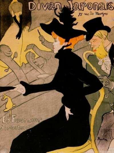 """Cartaz de Toulouse Lautrec. Jane Avril em """"Divã Japonês"""""""