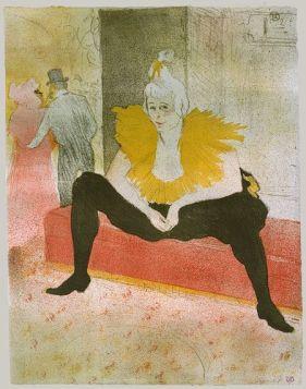 Mademoiselle Cha-u-Kao. Pintura de Henri Toulouse-Lautrec.