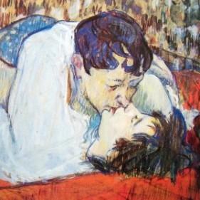 Cha-u-Kao com sua companheira Gabrielle (modelo e prostituta). Pintura de Henri Toulouse-Lautrec.