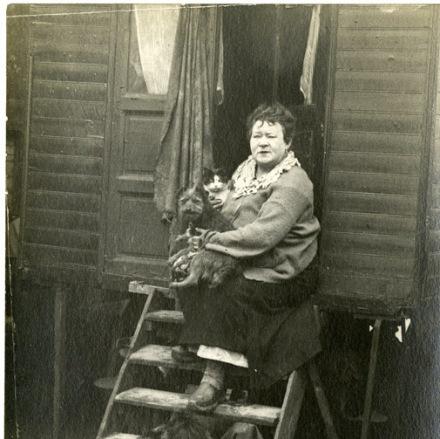 La Goulue quando passou a trabalhar no circo e viver com pouco
