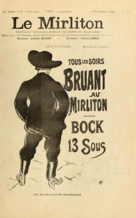 Aristide Bruant e seu cabaré, Le Mirliton.