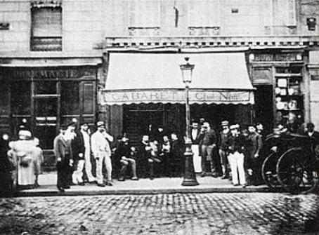 O primeiro Le Chat Noir, número 84 do Boulevard Rochechouart