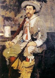 Retrato de Salis, feito por Antonio De La Gandara
