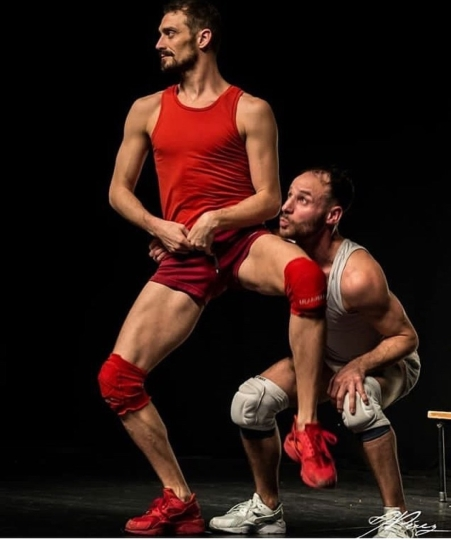 Luciano Rosso e Alfonso Baron. Fotografia: J. Pérez