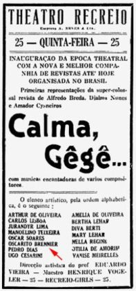 2 - Flyer do espetáculo Calma GeGê