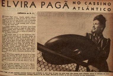 Crônica de R.C. para a revista Cruzeiro - Ano 1944; edição 0033