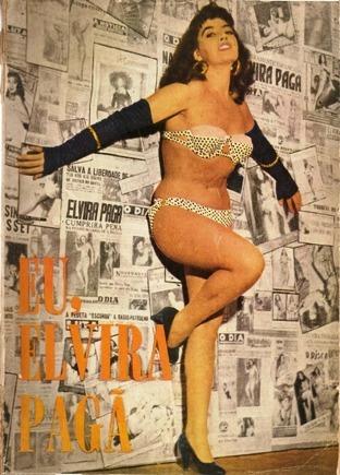 Capa do Livro Eu, Elvira pagã, por Elvira pagã, 1º edição Rio de Janeiro 1965