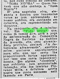 """Jornal do Brasil, 13 de Julho de 1926, p.14. """"Rosa Negra"""""""