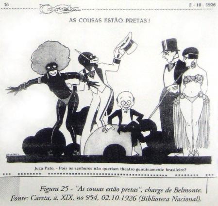 """Figura 25 - """"As cousas estão pretas"""", charge de Belmonte. Fonte: Careta, a. XIX, nº954, 02.10.1926 (Biblioteca Nacional)"""