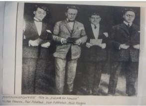 Da esquerda para a direita: Max Hansen, Max Adalbert, Kurt Robitschek e Paul Morgan.